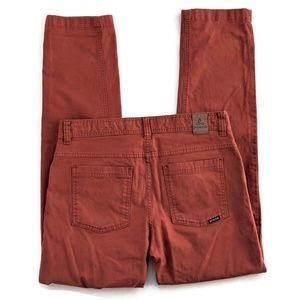 Prana Tucson Pants Henna (Rust) Slim 32 x 32 T10